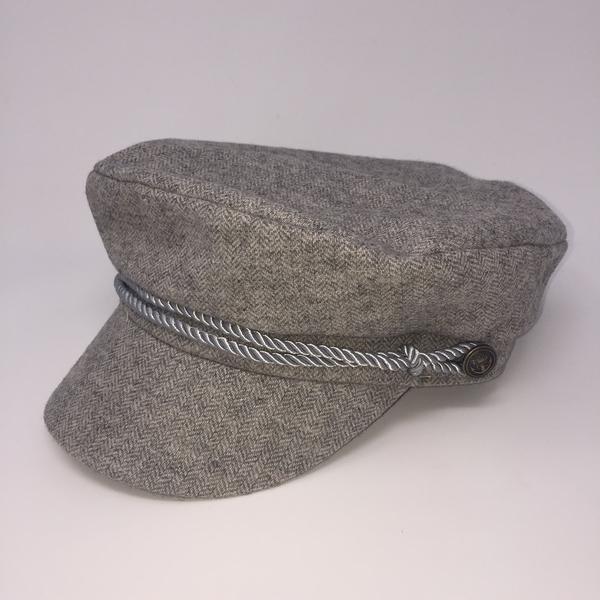 WYETH Captains Cap Grey Tweed on Garmentory