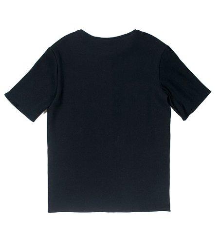 M Press Black Dual Material T-shirt