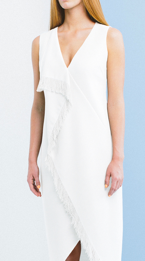 Obakki Sleeveless Crossbody Fringe Dress