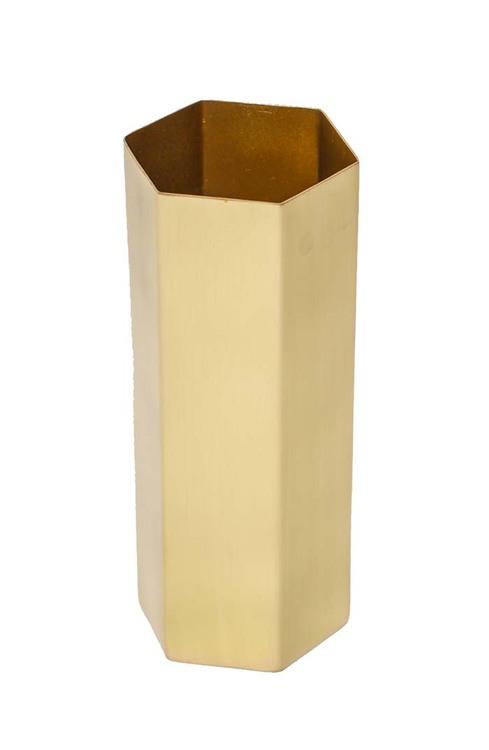 Ferm Living Brass Hexagon Vase