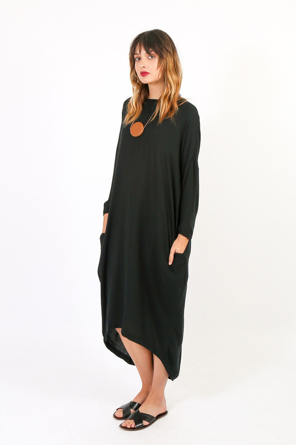 Black Crane Cocoon Dress Garmentory