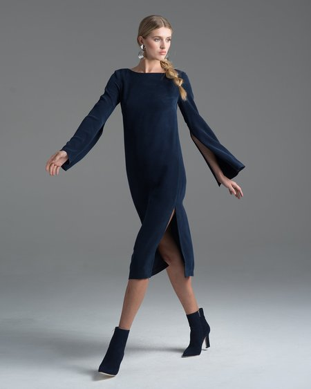 VOZ Apparel Slit Sleeve Dress