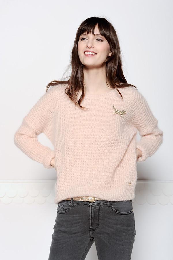 Des Petits Hauts Abrinou Pale Pink Sweater Garmentory