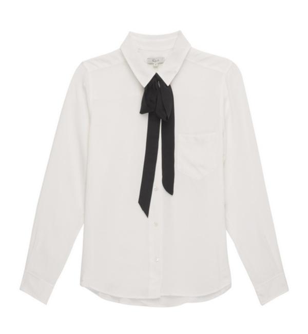b399433022d094 Rails Edie Necktie Silk Shirt in White. sold out