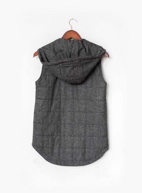 Kinney Vest | Grey Herringbone
