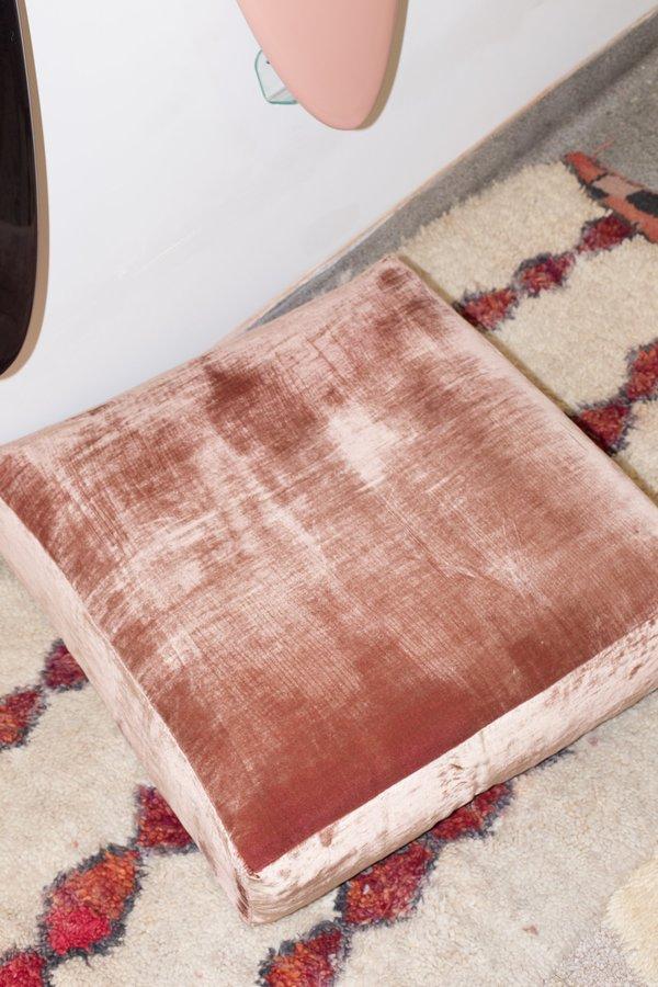 Heidi Merrick Velvet Floor Pillow - Rose   Garmentory