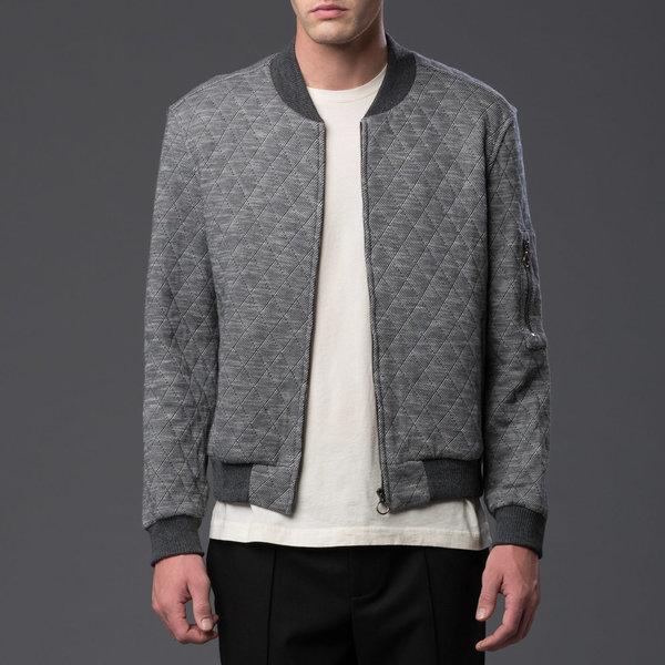 KRAMMER & STOUDT - Dean Knit Bomber - Grey Quilted