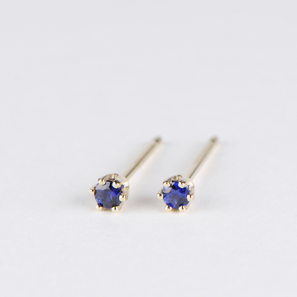 3aeb3ac78 Satomi Kawakita Baby Sapphire Studs In 14k Yellow Gold Sold Out