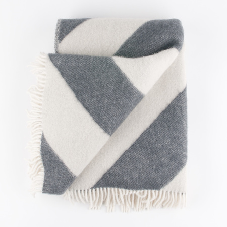 FORESTRY WOOL New Zealand Wool Mina Blanket - New Grey