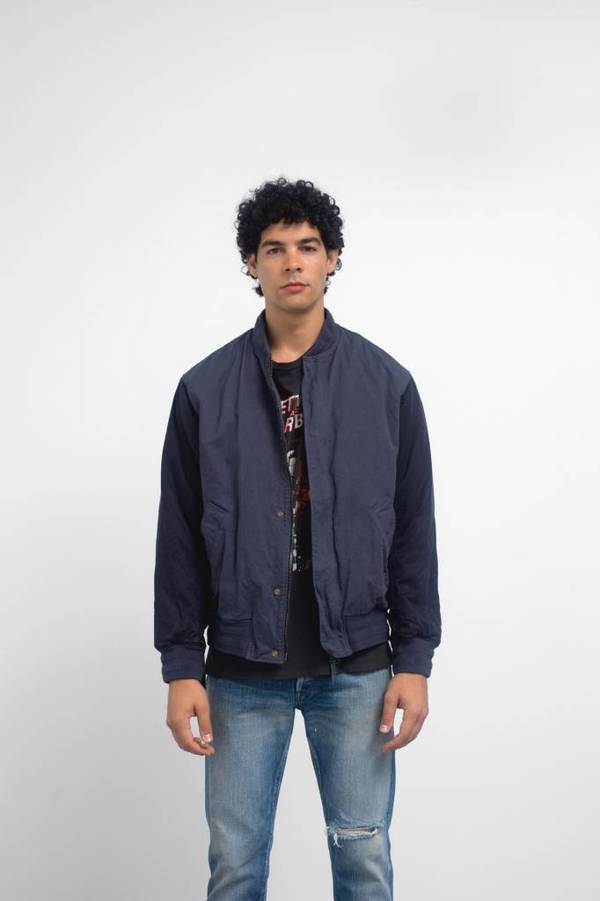 97de723b3 Robert Geller Cupro Combo Bomber Jacket on Garmentory
