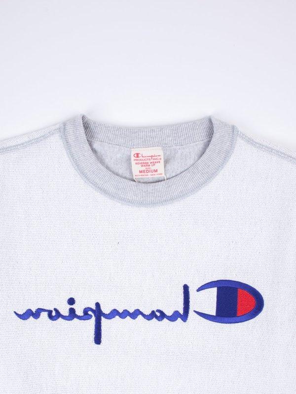d696ddd935e5b Champion Reverse Weave Full Reversed Embroidered Logo Crewneck Sweatshirt