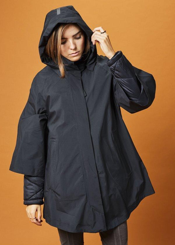 g lab nova crop sleeve coat black garmentory. Black Bedroom Furniture Sets. Home Design Ideas