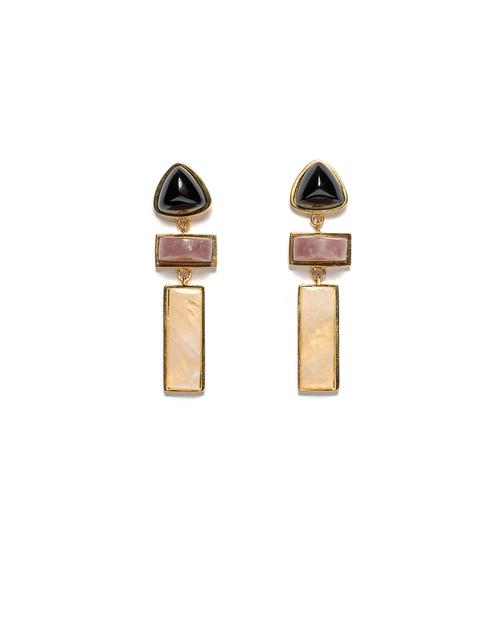 Lizzie Fortunato Villa Earrings in Gold
