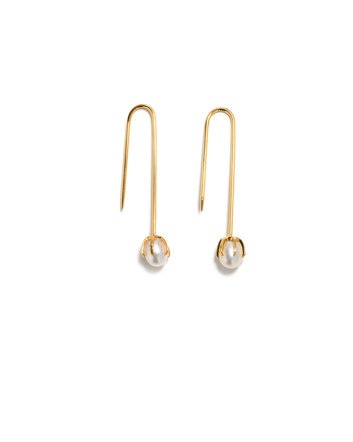 Lizzie Fortunato Eclipse Earrings in Pearl White