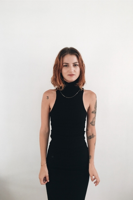 giu giu Nonna Turtleneck Sans Sleeves in Onyx