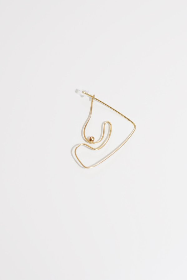 Knobbly Studio Deconstructed Nude Earring Large