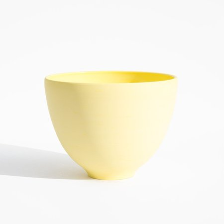 Luke Eastop Tall Arc Bowl - Vivid Yellow