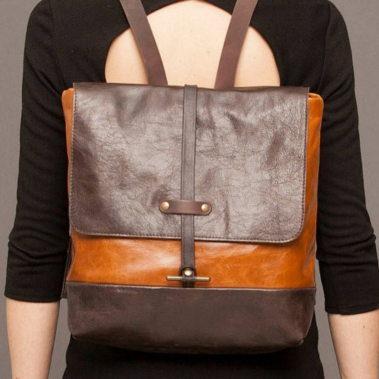 Cokluch Brown Leather Backpack
