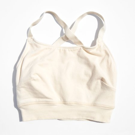 Pansy Natural Sports Bra - white