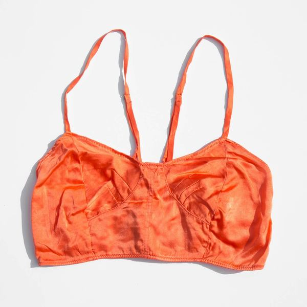 314101b3a6739 Vivien Ramsay Scarlet Silk Corset Bra