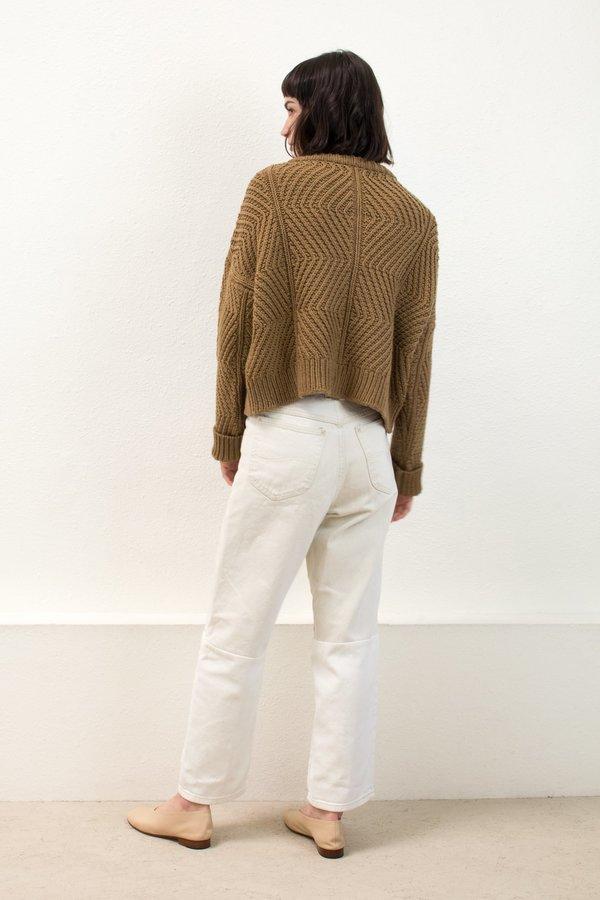 Micaela Greg Caramel Bevel Sweater