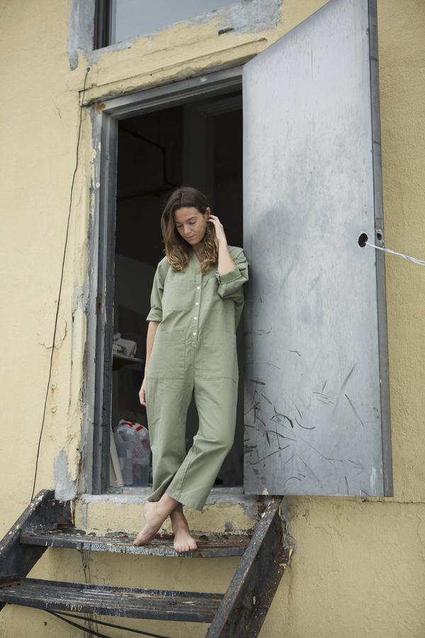 Garmentory Exclusive | Unisex Ilana Kohn Tuck Coverall - Sage Canvas