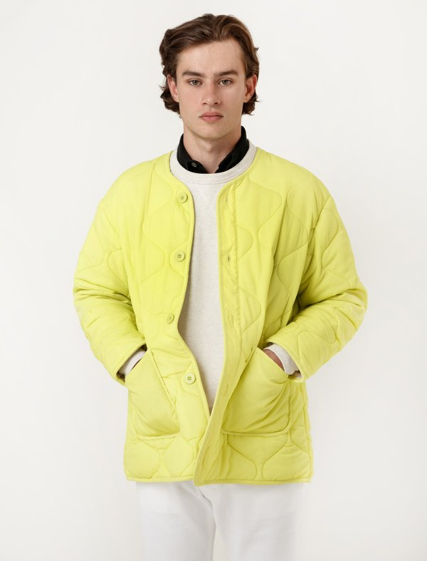 Our Legacy Mens Quilted Liner Citron Nylon | Garmentory : quilted liner - Adamdwight.com