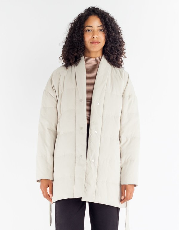 Selfhood Quilted Coat Off White | Garmentory : white quilted coat - Adamdwight.com