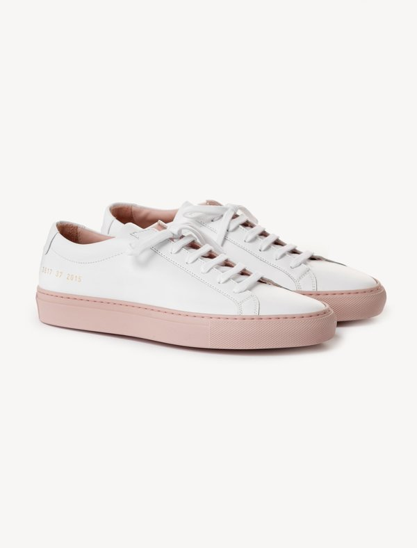 5798a2dc74b3 Woman by Common Projects Achilles - Low Coloured Sole White Blush ...