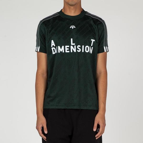 1e042e84d Adidas Originals By Alexander Wang Soccer Jersey II T-shirt - Green Night