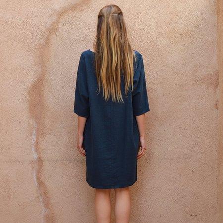 Me & Arrow Dolman Dress - Navy Blue
