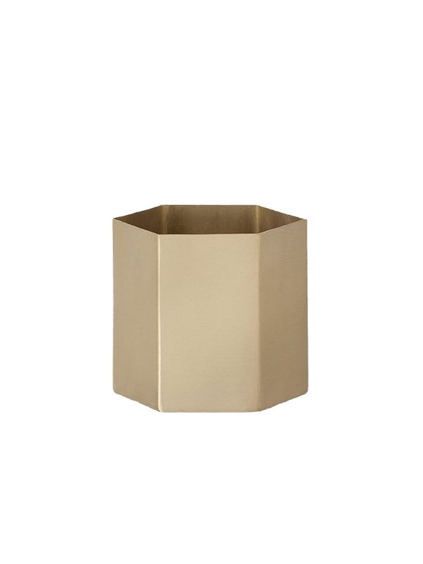 Ferm Living Large Hexagon Pot - BRASS