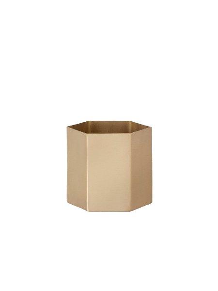 Ferm Living Small Hexagon Pot - Brass