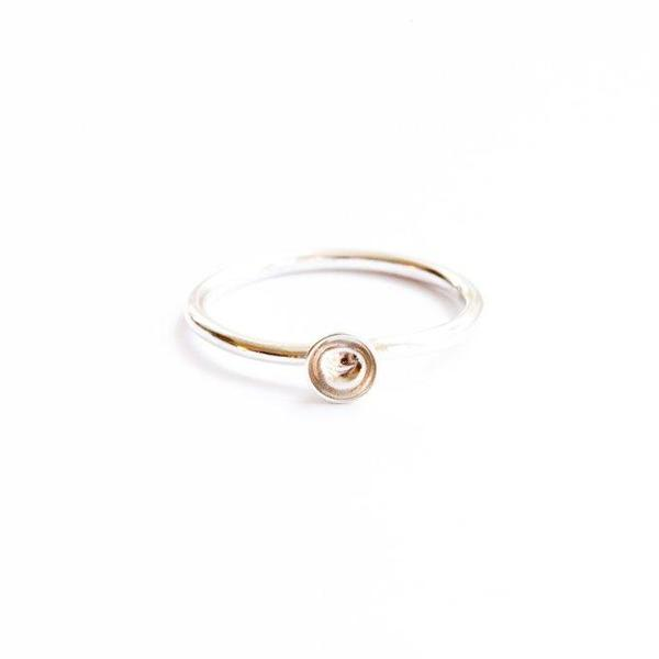 Another Feather Cup Ring - Silver