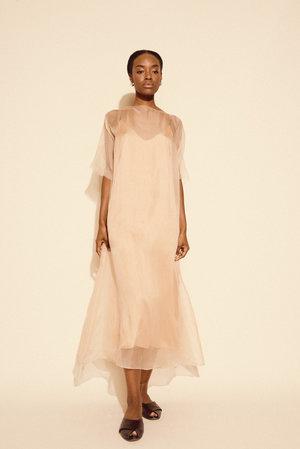 Kamperett Air Silk Organza Sheath Dress