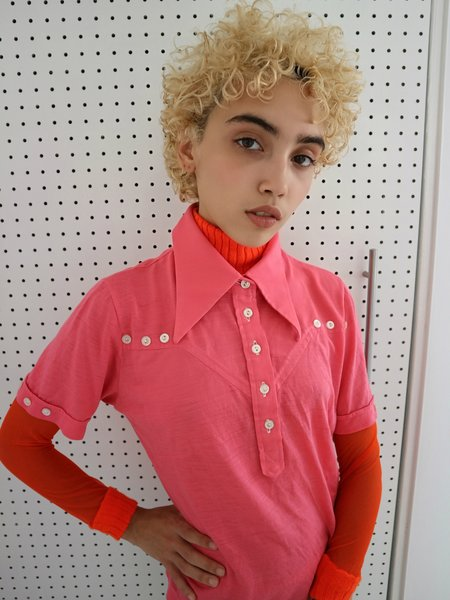 Vintage HOH Curate 70's Collar Tee - Pink