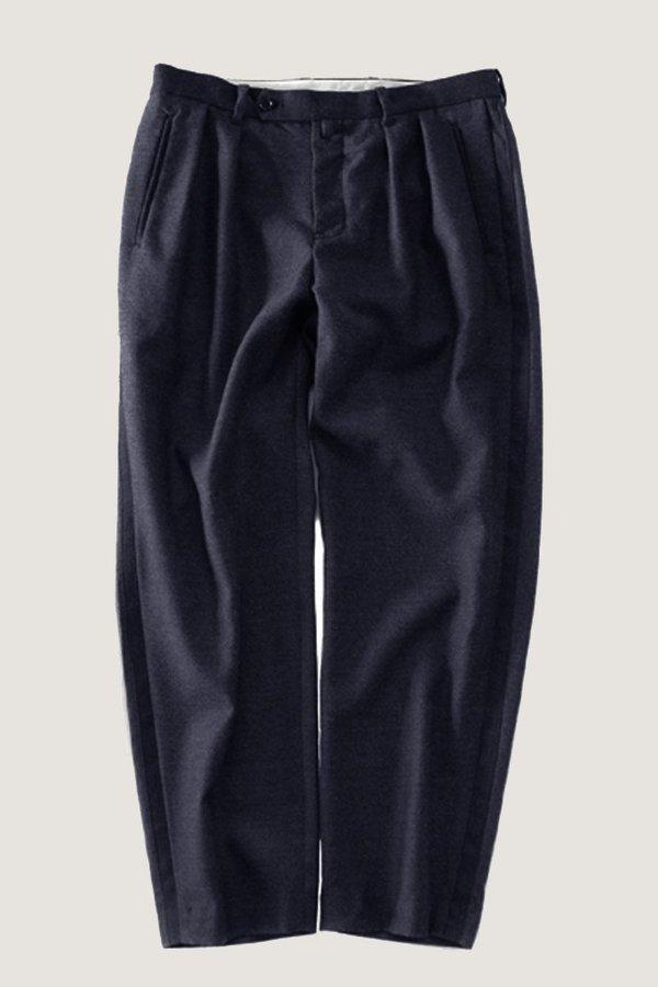 Still By Hand MultiWool Trouser - Navy