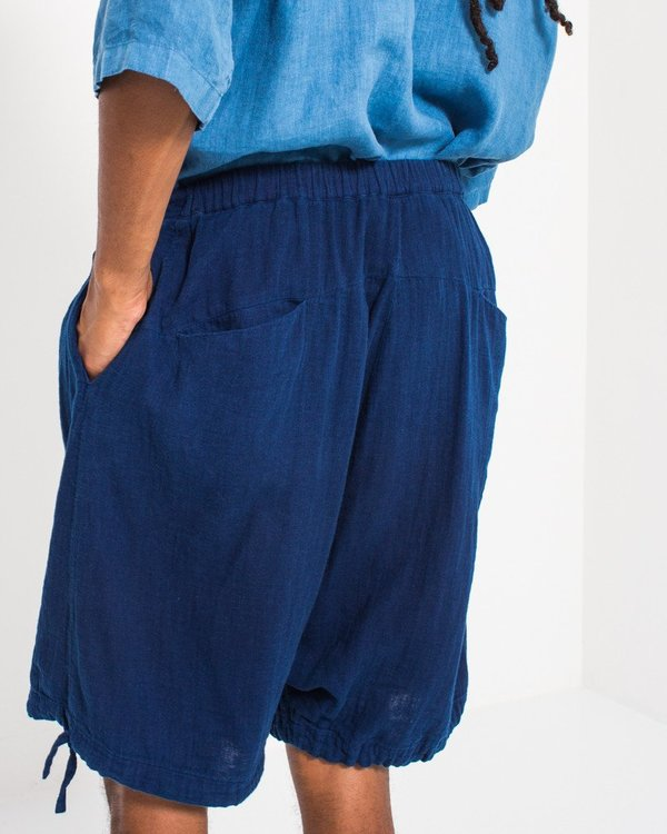 Blue Blue Double Gauze Lantern Shorts
