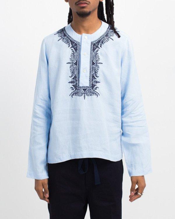 MP Massimo Piombo Embroidered Collar Shirt