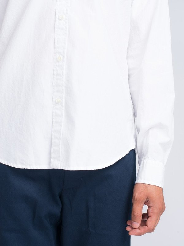 Men's Alex Mill END ON END SCHOOL SHIRT - WHITE