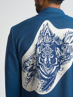 Men's Comme des Garçons Homme Plus FRENCH BLUE WOOL BLAZER-BLUE