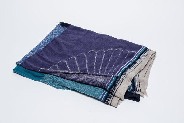 Kapital Furoshiki Compressed Wool Patchwork Scarf
