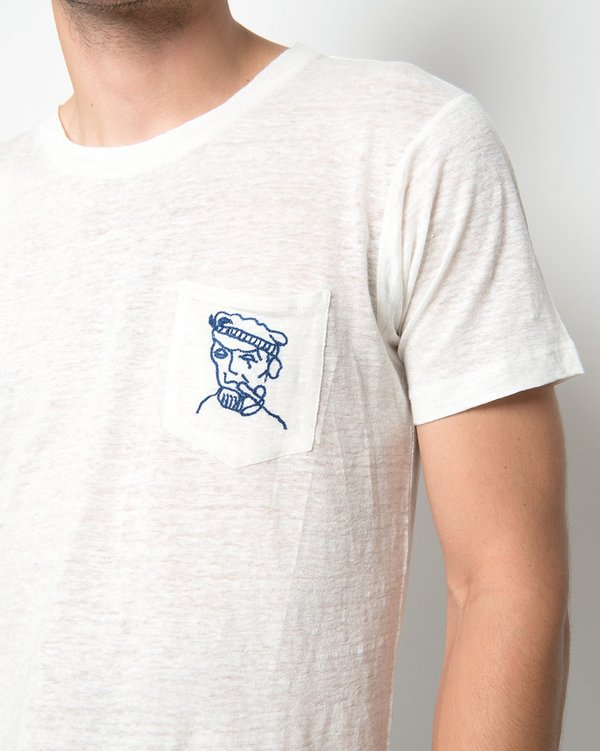 Banner Day Mariner Pocket Tee - Bone