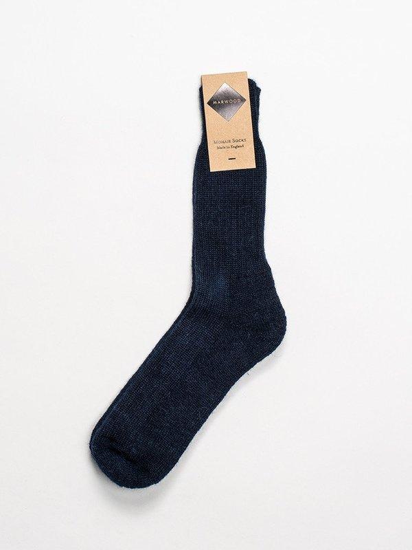 Marwood Mohair Heavy Knit Sock - Dark Navy