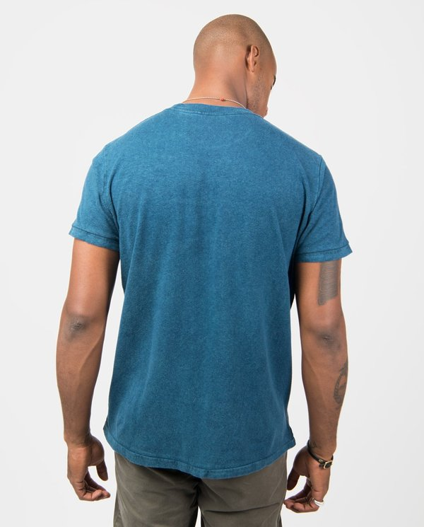 The Lost Explorer Natural Dyed Tee - Indigo