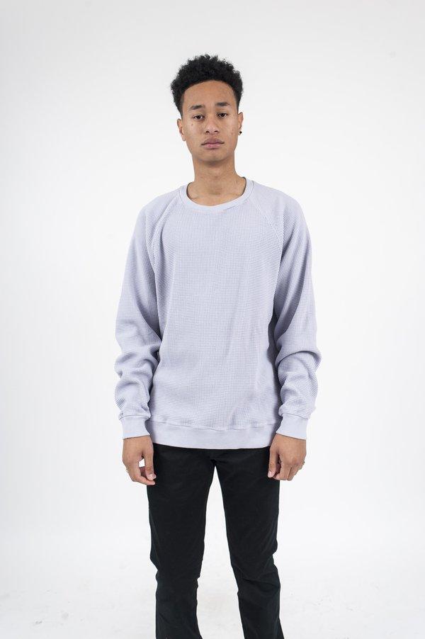 John Elliott Raglan Thermal Crewneck Sweatshirt - Lavendar
