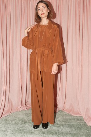 ARE Studio Elsa Robe in Chestnut