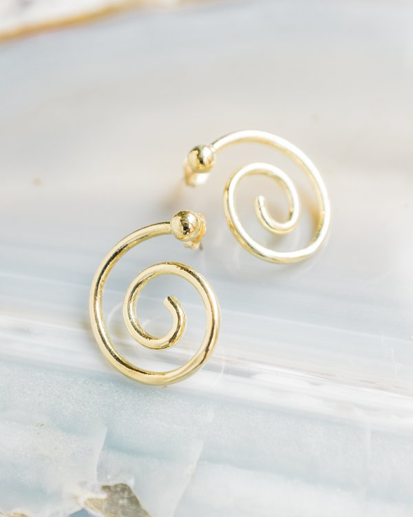 Young Frankk Spiral Earrings