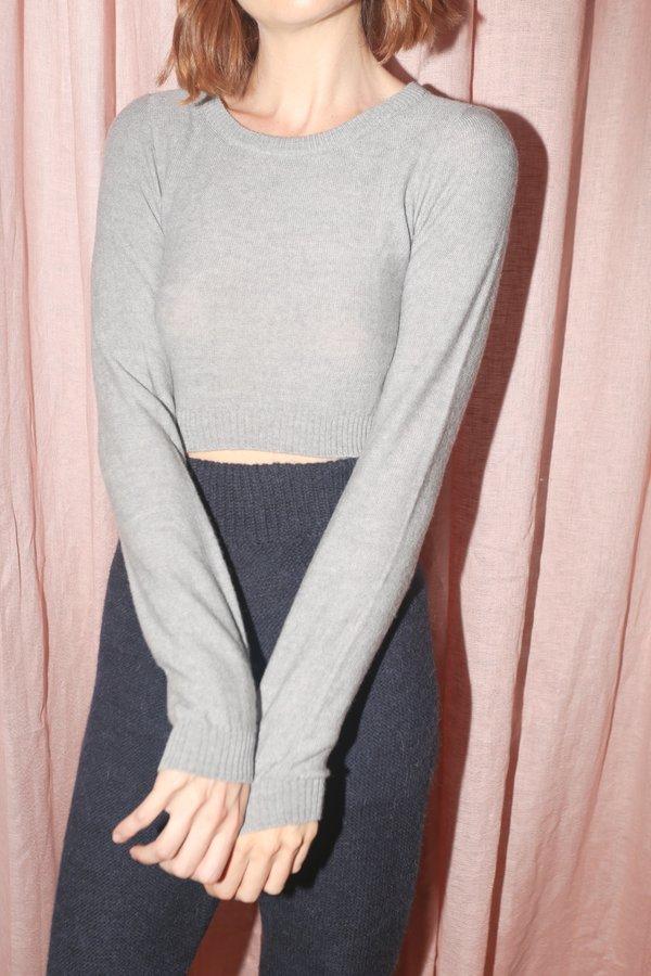 Baserange Kyro Pullover in Grey Melange
