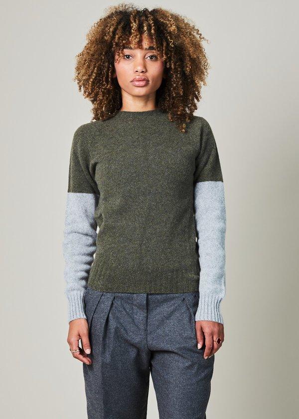 YMC Cashmere Blend Colorblock Sweater